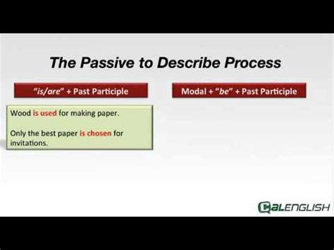 The Passive To Describe Process Youtube