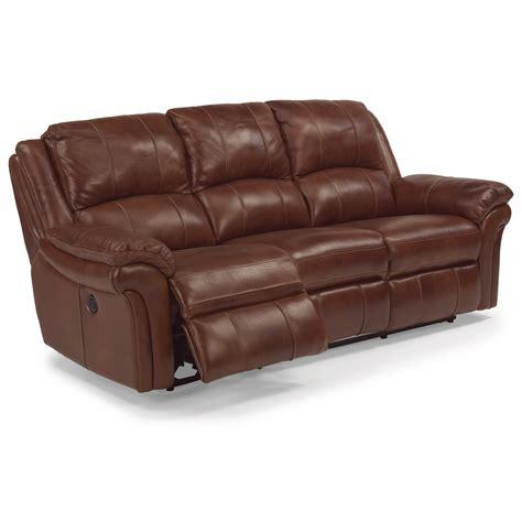 flexsteel leather reclining sofa flexsteel latitudes dandridge casual power reclining