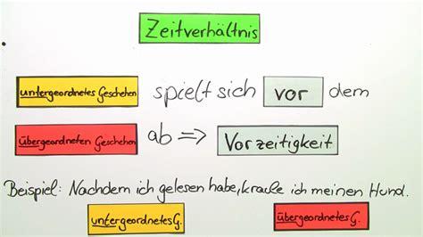 vorzeitigkeit deutsch arbeitsblätter