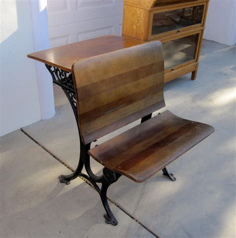 vintage school desk value reserved for daryn coburn antique cast iron and wood school