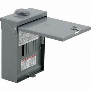 Square D 100 A Amp 6 Space 12 Circuit Main Breaker Box