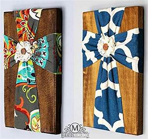 Fabric wall cross handmade