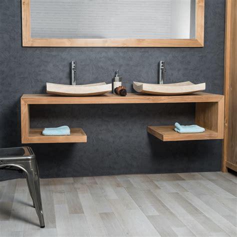 charmant meuble vasque pas cher avec meuble sous vasque salle de bain en teck collection