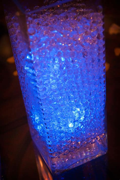 water bead centerpiece with led lighting dessert table