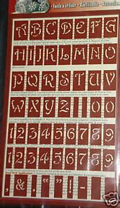 armour glass etch stencils letters numbers reusable ebay