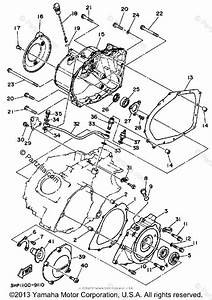 Yamaha Atv 1989 Oem Parts Diagram For Crankcase Cover