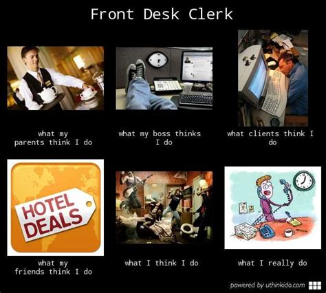 Desk Meme Origin by Front Desk Clerk Funnystufffz