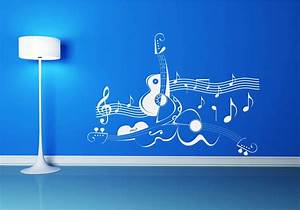 Home wallpaper wall murals rock guitar mural music note