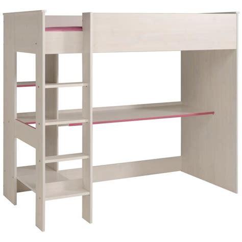 lit mezzanine blanc avec bureau lit superpose avec bureau achat vente lit superpose