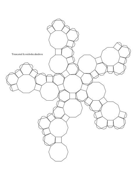 truncated cuboctahedron template molde de poliedros