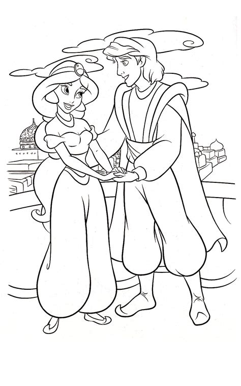 aladdin magic carpet coloring page coloring pages