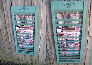 Magazine Rack - 9 Brilliant Shutter Upcycling Ideas …