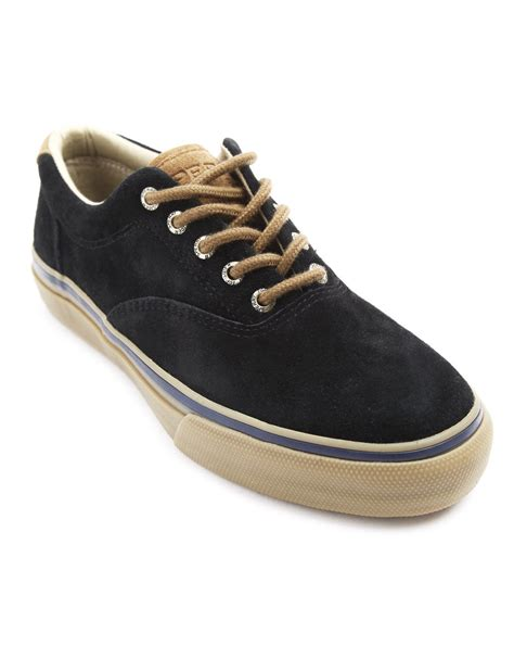 sperry top sider striper cvo navy sneakers in blue for navy lyst