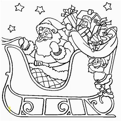 Coloring Christmas Pages Printable Sleigh Santa Colouring