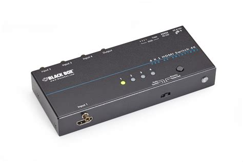 Hdmi 4 Switch by 4x1 4k Hdmi Switch Black Box