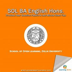 Sol Ba English Hons Previous Year Question Papers 2017 & Last Minute Tips