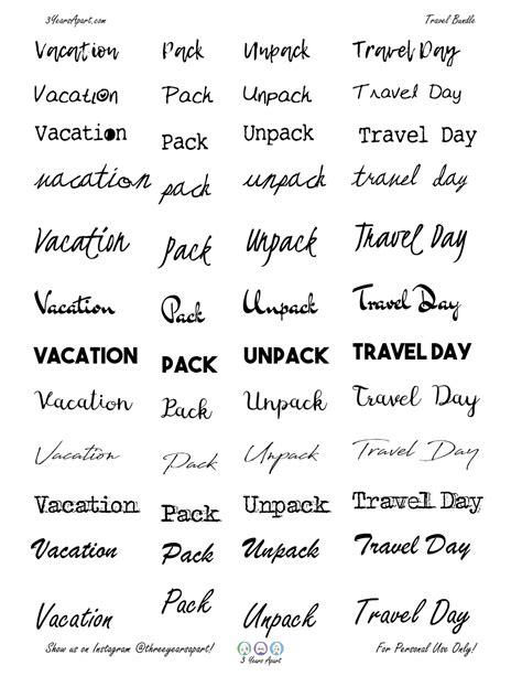 vacation sticker bundle  bullet journal  planner