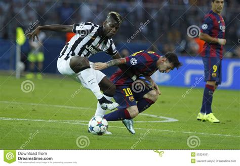 Paul Pogba And Lionel Messi Juventus V FC Barcelona - UEFA ...