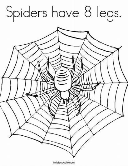 Spider Coloring Spiders Legs Weensy Eensy Web