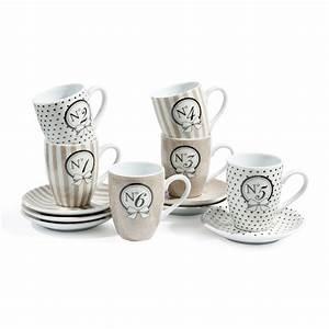 Service Tasse à Café : coffret 6 tasses et soucoupes caf mode salon de th ~ Teatrodelosmanantiales.com Idées de Décoration