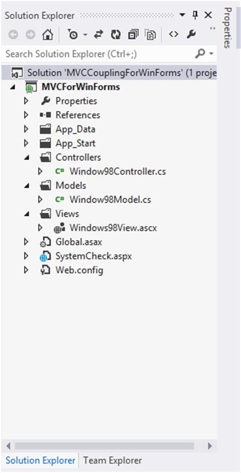 implementation of mvc patterns in asp net web forms