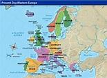 Online Maps: Western European map