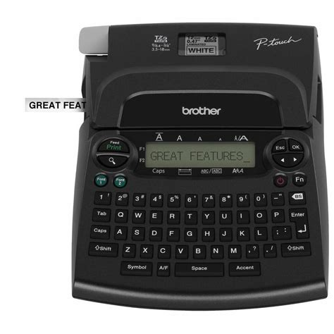 brother pt  p touch deluxe label maker thermal printer