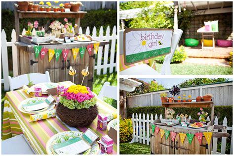 Little Girls' Gardening Birthday Party   Pizzazzerie
