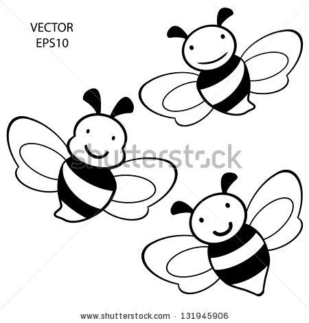 Cartoon Drawing Honey Bee Pencil Drawing Collection - pencil vector outline clipart panda free clipart images