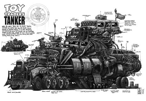 Mad Max Engine Diagram by Artstation Traders War Tanker Shane Molina