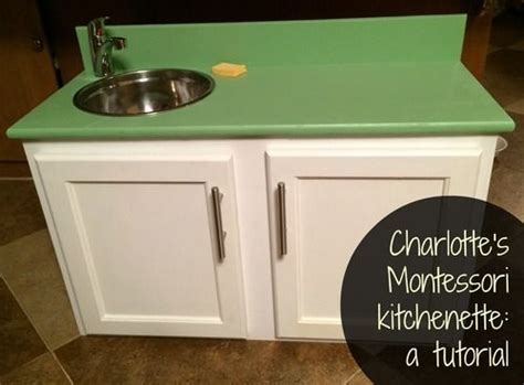 toddler kitchen sink with running water s montessori kitchenette a tutorial