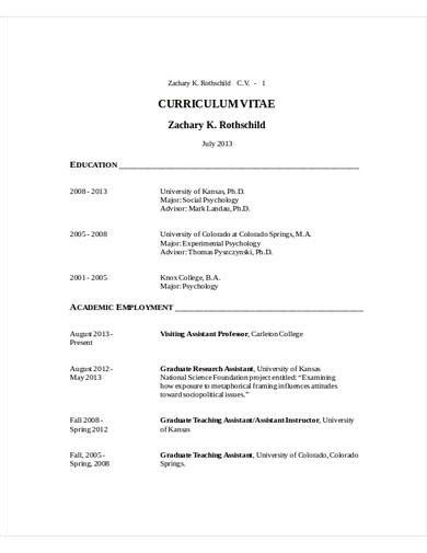 research assistant cv samples templates  ms