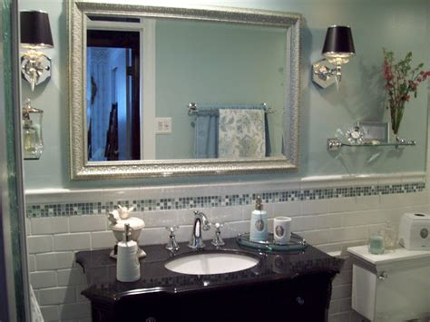 Spa Bathrooms On A Budget by Spa Blue Bathroom Makeover On A Budget Bathroom Ideas