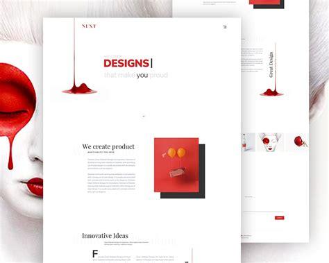 minimalist templates minimalist agency landing page template psd psd