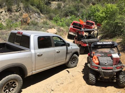 Climbing The Backway To Crown King Trail With Ram Trucks