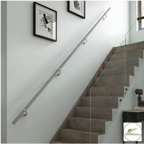 chrome banister rails stairs wall mounted handrail kit in chrome or brushed