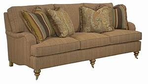 Traditional sofa with english arms and turned legs by for Sofa vs couch english
