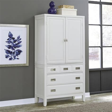 White Wardrobe With Drawers by Home Styles Newport White Armoire 5515 45 The Home Depot
