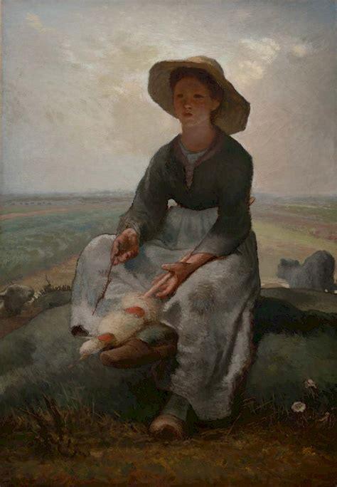 young shepherdess  jean francois millet obelisk art