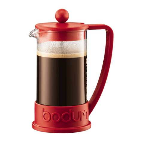 BRAZIL   French Press coffee maker, 3 cup, 0.35 l, 12 oz Red   Bodum Online Shop   United Kingdom