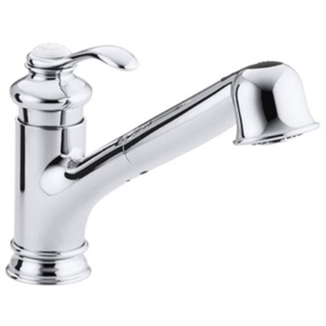 ferguson kohler kitchen faucets k12177 cp fairfax pull out spray kitchen faucet polished