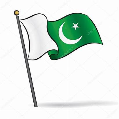 Flag Pakistani Waving Vector Wind Illustration Depositphotos