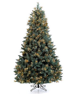 gold tipped christmas tree 7 5 spruce tree with gold tips for the home macy s