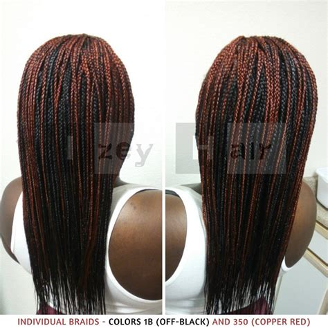 1b color individual braids colors 1b black and 350 copper