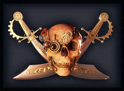 Steampunk Pirate Flag