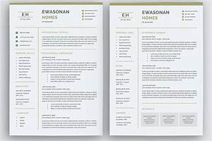 Free Cover Letter For Resume Minimal Resume 3 Pages Cv Template For Word Two Page