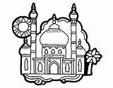 Taj Mahal India Coloring Pages Ancient Para Coloringcrew Colorear Colouring Cultures Activities Dibujo Drawing Indian Printable Map Pintar Dessin Imprimir sketch template