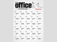 30Day Office Challenge by DAREBEE Workout & Exercise
