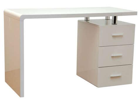 bureau photo bureau gloss coloris blanc vente de bureau conforama