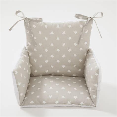 coussin chaise haute étoiles beige cocoeko
